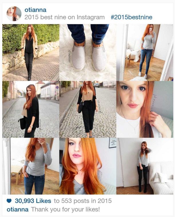 Podsumowanie 2015 roku na instagramie OTIANNA