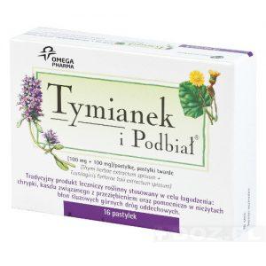 Tymianek i Podbiał – tabletki na gardło