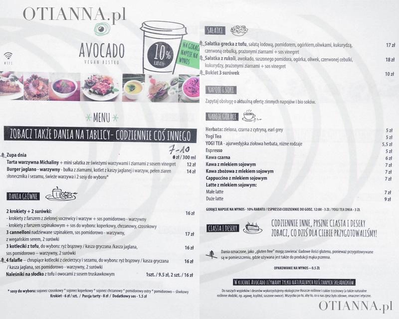 avocado-menu-jakie-ceny-bistro-weganska-restauracja-gdansk-trojmiasto-opinie