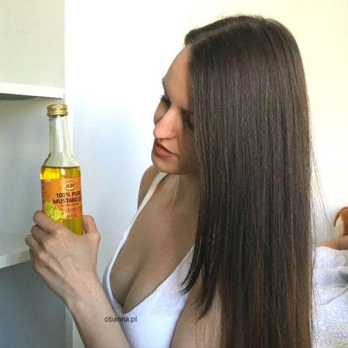 olej musztardowy na porost włosów efekty